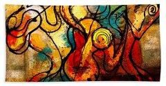 Ragtime Hand Towel by Leon Zernitsky