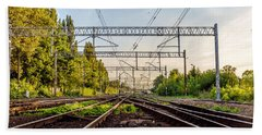 Railway To Nowhere Bath Towel