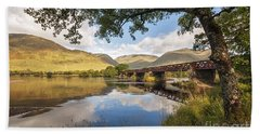 Railway Viaduct Over River Orchy Hand Towel