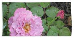 Rain Kissed Rose Hand Towel