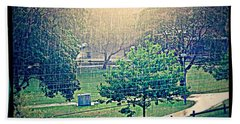 Hand Towel featuring the photograph Rain by Leanne Seymour