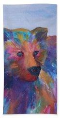 Rainbow Bear Bath Towel by Ellen Levinson