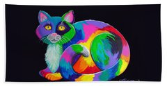 Rainbow Calico Hand Towel