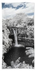 Rainbow Falls In Infrared 1 Bath Towel