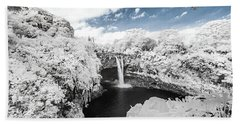 Rainbow Falls In Infrared 3 Hand Towel