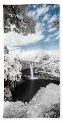 Rainbow Falls In Infrared 4 Hand Towel