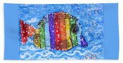 Rainbow Fish Hand Towel by Kathy Marrs Chandler