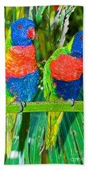 Rainbow Lorikeet Bath Towel