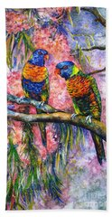 Rainbow Lorikeets Hand Towel