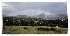 Rainbow Over Lake Estes Hand Towel