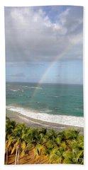 Rainbow Over Palms Bath Towel