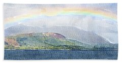 Rainbow Over The Isle Of Arran Bath Towel