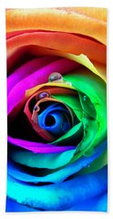 Rainbow Rose Hand Towel