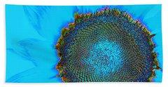 Rainbow Sunflower Bath Towel by Phyllis Denton