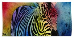 Rainbow Zebra Hand Towel