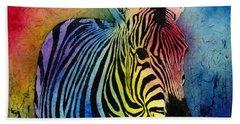 Rainbow Zebra Bath Towel