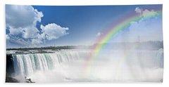 Rainbows At Niagara Falls Hand Towel