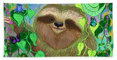 Rainforest Sloth Hand Towel