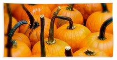 Hand Towel featuring the photograph Rainy Day Pumpkins by Ira Shander