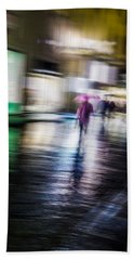 Rainy Streets Bath Towel by Alex Lapidus