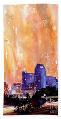 Raligh Skyline Sunset Bath Towel