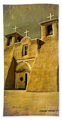 Ranchos Church In Old Gold Hand Towel