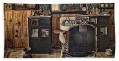 Randsburg Barber Shop Interior Hand Towel by Priscilla Burgers