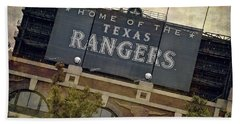 Rangers Ballpark In Arlington Color Bath Towel