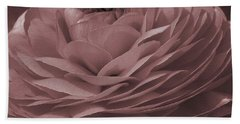 Hand Towel featuring the photograph Ranunculus Red by Jean OKeeffe Macro Abundance Art