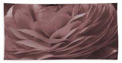 Bath Towel featuring the photograph Ranunculus Red by Jean OKeeffe Macro Abundance Art
