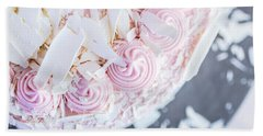 Raspberry White Chocolate Cake Bath Towel