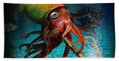 Rasta Squid Hand Towel