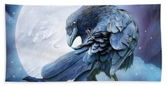 Raven Moon Hand Towel