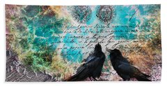 Crow Whispers In The Nowhere Bath Towel