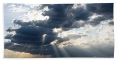 Rays And Clouds Bath Towel by Antonio Scarpi