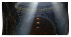 Rays Of Hope St. Peter's Basillica Italy  Bath Towel by Bob Christopher