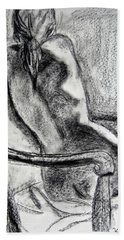 Bath Towel featuring the drawing Reaching Out by Kendall Kessler