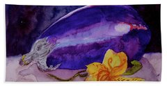 Bath Towel featuring the painting Ready by Beverley Harper Tinsley