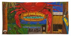 Ready For The Day At The Crab Shack Bath Towel