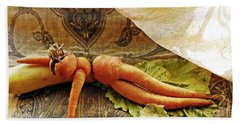 Reclining Nude Carrot Hand Towel
