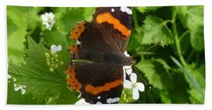 Hand Towel featuring the photograph Red Admiral In Toronto by Lingfai Leung