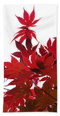 Red And White Bath Towel