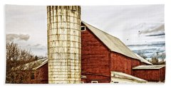 Red Barn And Silo Vermont Hand Towel