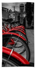 Red Bicycles Hand Towel