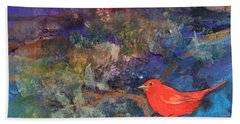 Red Bird Bath Towel