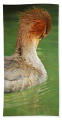Red Breasted Merganser Hand Towel