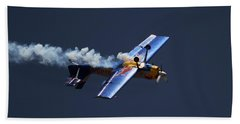 Hand Towel featuring the photograph Red Bull - Inverted Flight by Ramabhadran Thirupattur