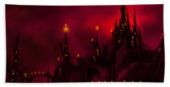 Red Castle Hand Towel by James Christopher Hill