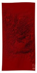 Red Cat Collection. Special... Hand Towel by Oksana Semenchenko