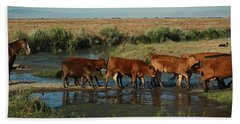 Red Cattle Bath Towel